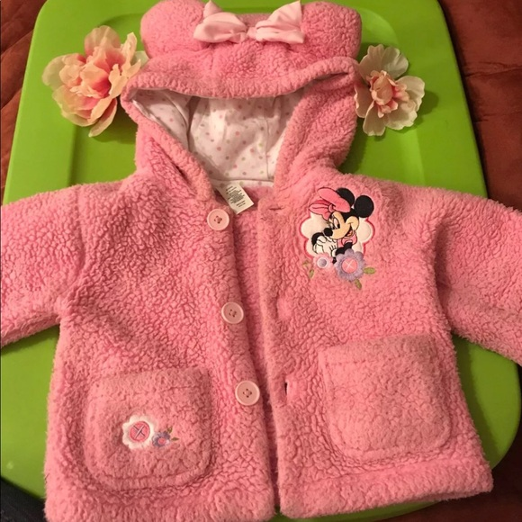 Clothing, Shoes & Accessories Sweaters Minnie Mouse Zip Up Jacket 12-18 Months